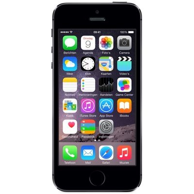 iPhone 5S 32GB Zwart Refurbished (Topklasse)