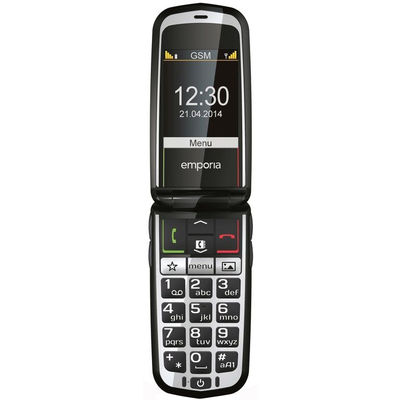 Glam senioren telefoon wit