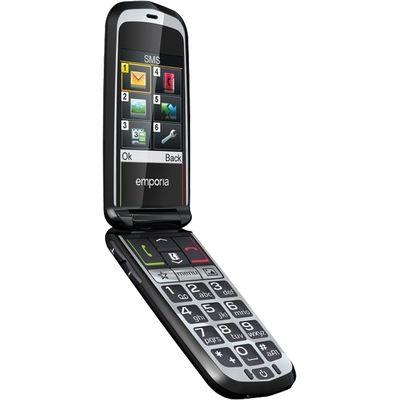 Glam senioren telefoon zwart